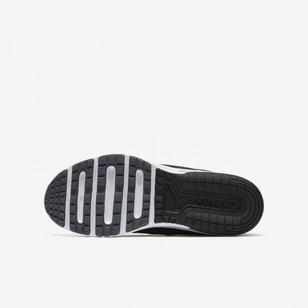 Nike Air Max Sequent 3 Laufschuhe Mädchen Schwarz Dunkelgrau Weiß Metallic Silber 226-73947