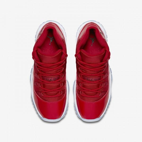 Nike Air Jordan XI Retro Three-quarter Outdoor Schuhe Mädchen Rot Weiß Schwarz 161-10573