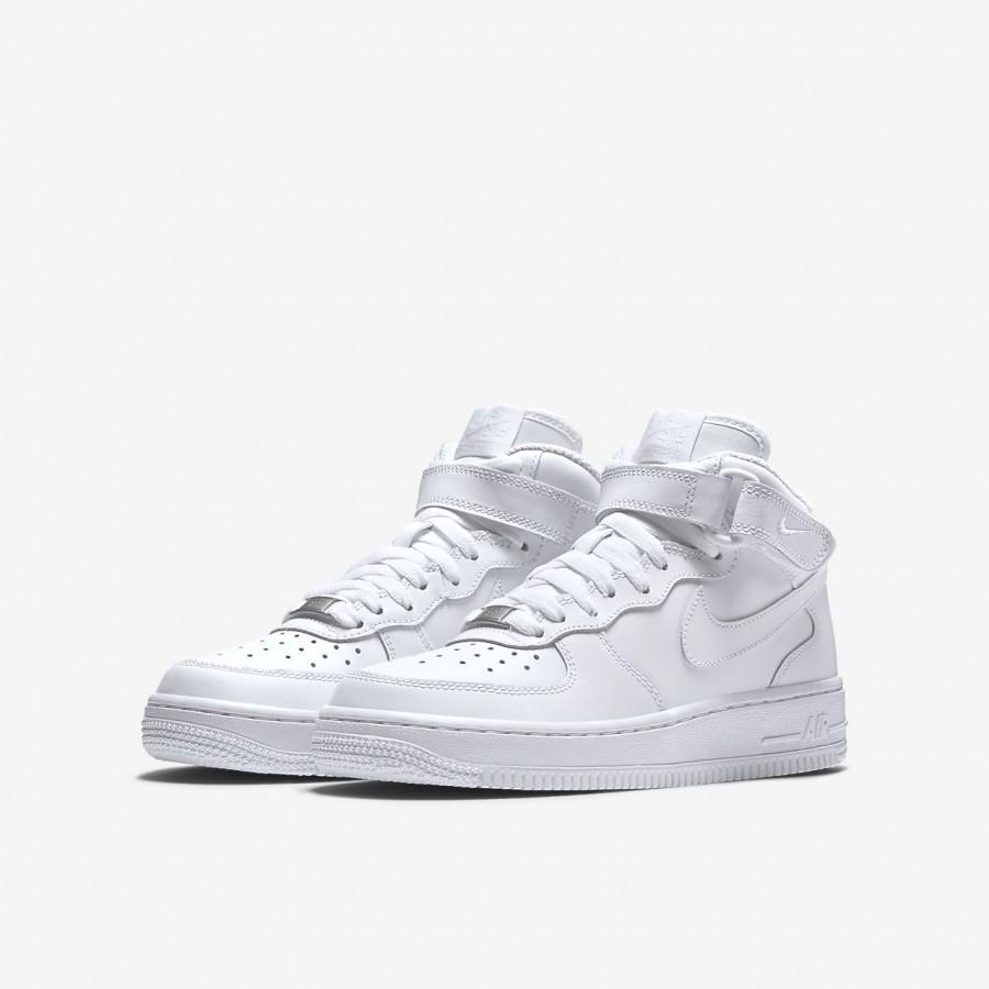 Nike Air Force 1 Mid 06 Freizeitschuhe Jungen Weiß 818 66567